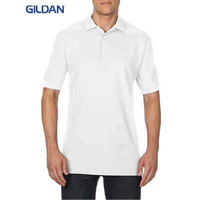 Gildan Premium Cotton Adult Double Pique Sport Shirt White